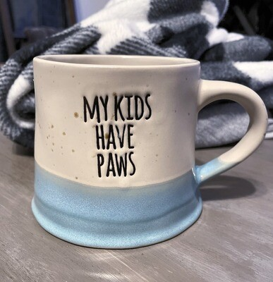 Speckled Farmhouse Mug: 'My Kids Have Paws'