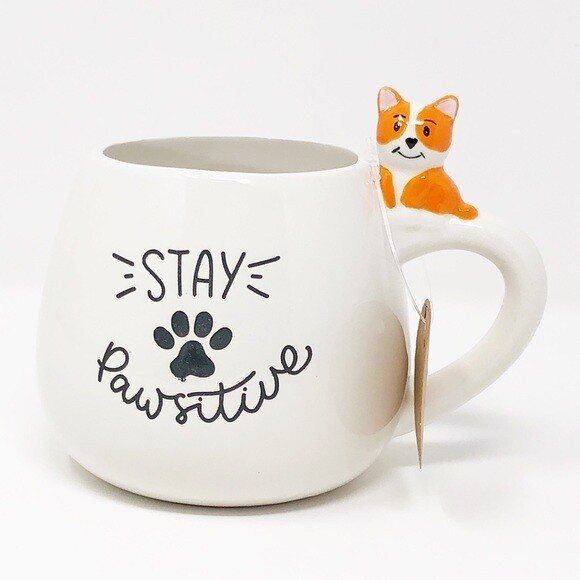 'Stay Pawsitive' 3D Dog Mug 🐾