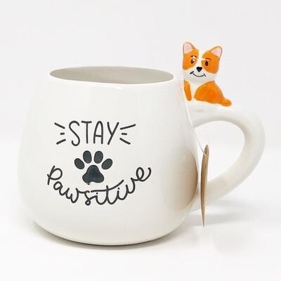 'Stay Pawsitive' Dog Mug 🐾