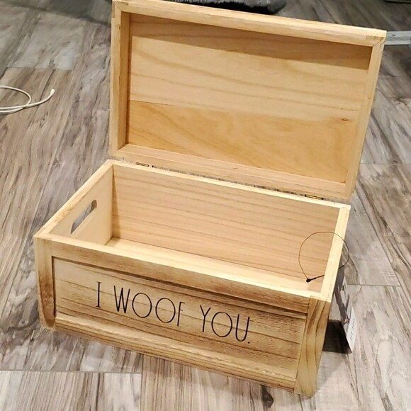 Rae Dunn 'I Woof You' Wood Storage Box