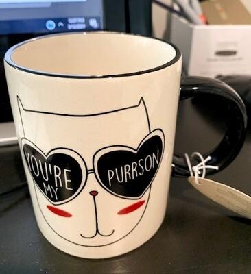 Cat 'You're My Purrson' Ceramic Mug 😺