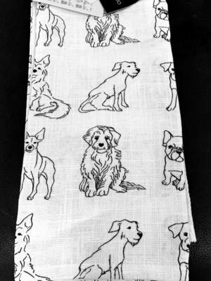 Designer 3-Pack Kitchen Towel Set: Dog Drawings