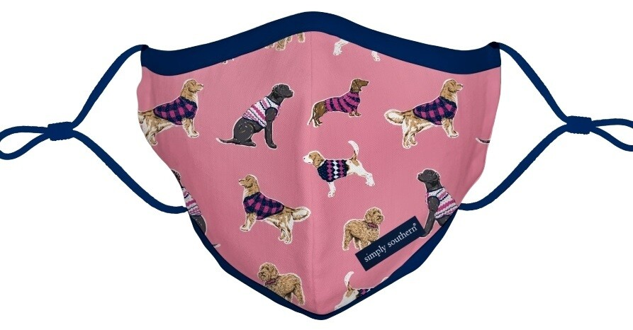 Simply Southern Adult Cloth Face Mask: Dogs Print