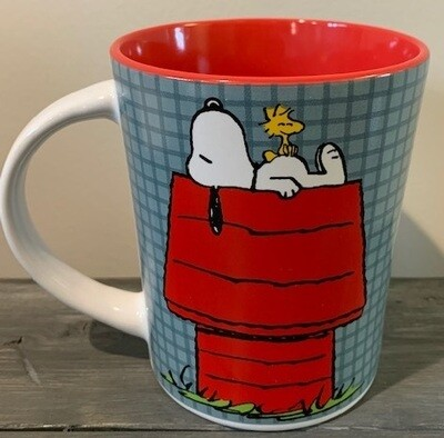 Snoopy Snoozing on Doghouse Mug