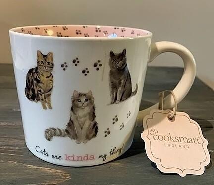 British Fine China Mug: 'Cats are Kinda My Thing'
