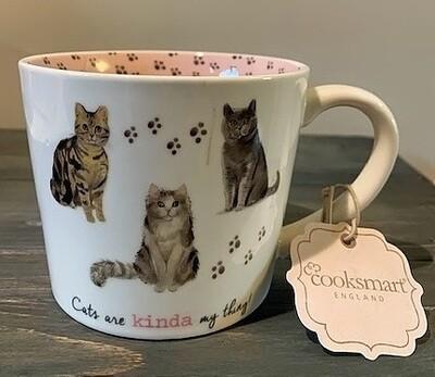British Cats Mug: 'Cats are Kinda My Thing'