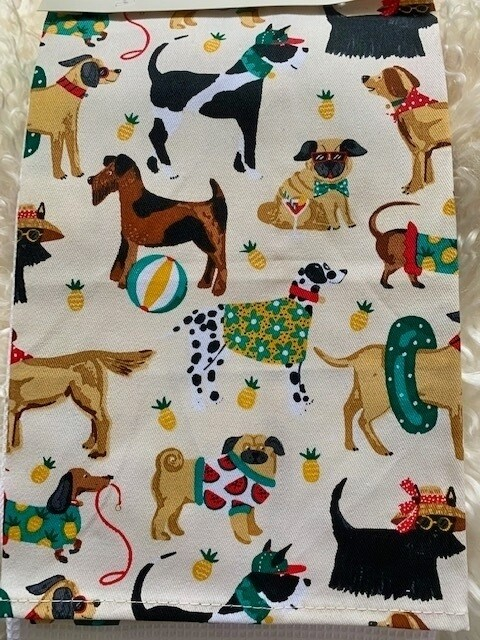 British-made 'Summer Dogs' 2-Pack Kitchen Towel Set