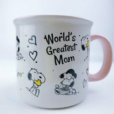 Snoopy & Lucy Large Mug: 'World's Greatest Mom'