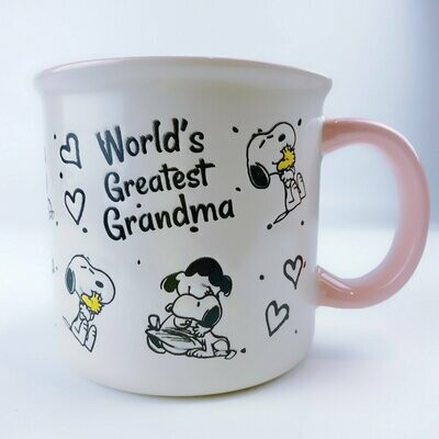 Snoopy & Lucy Large Mug: 'World's Greatest Grandma'