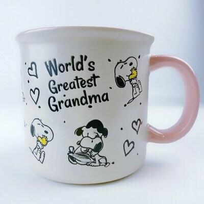 Snoopy, Lucy & Woodstock Mega-Mug: 'World's Greatest Grandma'