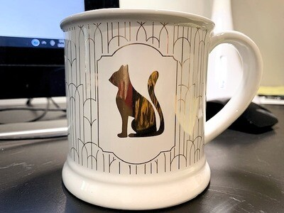Gold Cat Retro Design Mug