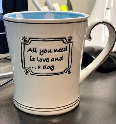 'All You Need is Love and a Dog' Polka Dots Mug