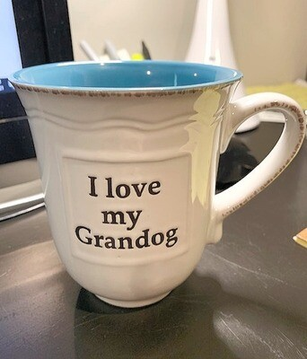 'I love my Grandog' Distressed Farmhouse Mug