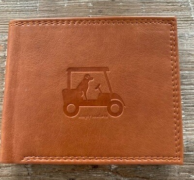 Simply Southern RFID Leather Wallet: Golfing Dog