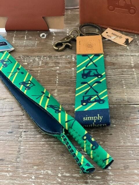 Simply Southern Neoprene Glasses Strap - Golfing Dog