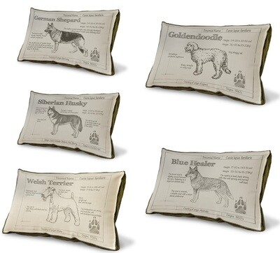 Made-to-Order Dog Breed Farmhouse Pillow
