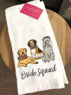 Designer 2-Pack 'Bride Squad' Dog Towels