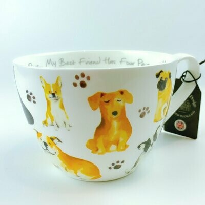 'Best Friend has Four Paws' British Dogs Mug