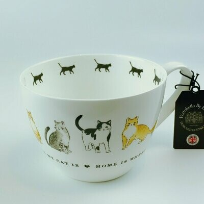 British Cats Mug: 'Home is Where My Cat Is'