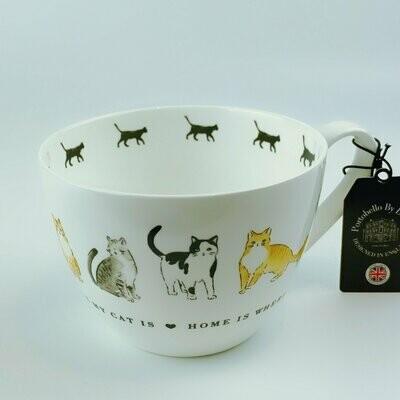 British Cats Mug: 'Home is Where My Cat Is'