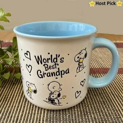 'World's Best Grandpa' Snoopy & Friends XL Mug