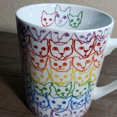 Cat Rainbow Mug