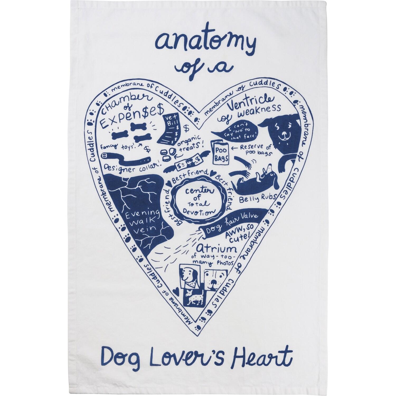 Anatomy of a Dog's Heart Kitchen Towel