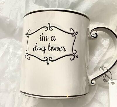 """""""I'm A Dog Lover"""" Ceramic Polka Dot Mug"""