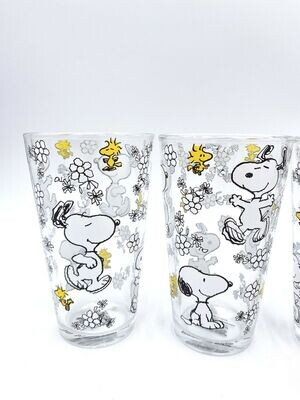 Snoopy Floral Everyday Glasses - Set of 4