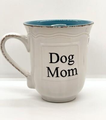 'Dog Mom' Distressed Farmhouse Mug