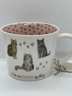 British Mug: 'Cats are Kinda My Thing'
