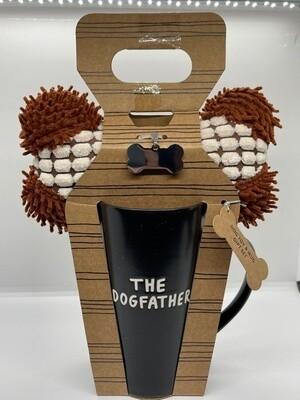 Dogfather Mug, Dog Toy & Tag Gift Set