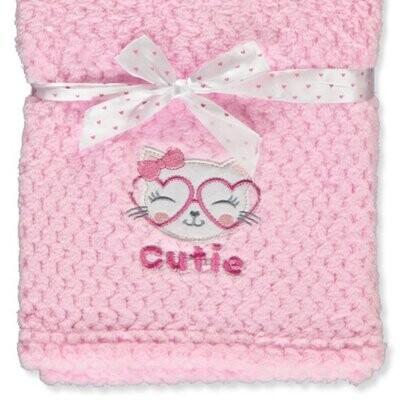 Designer Plush Baby Girl Blanket