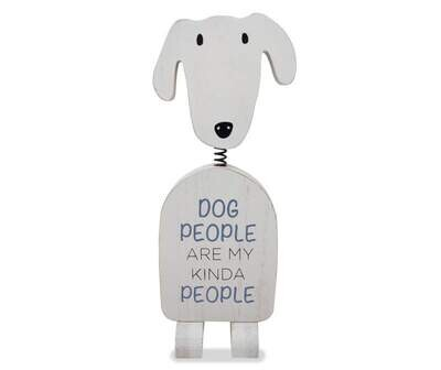 "Bobble Head Dog: ""Dog People are my Kinda People"""