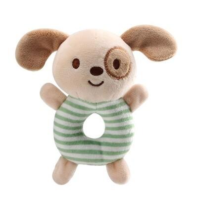 Plush Puppy Ring Rattle