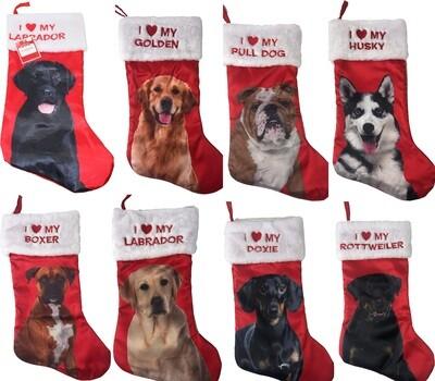 I ❤️ My Dog Breed Christmas Stocking