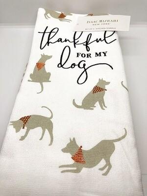 Set of 3 Designer Kitchen Towels: Thankful for my Dog