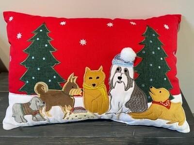 Festive Christmas Dogs w/3D Winter Hat Pompom