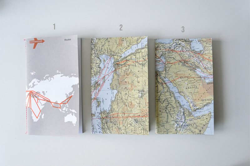Recycled Swisair Paperwaste Notebooks