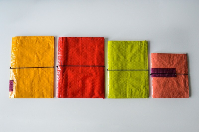 Recycled Paperwaste Retro 70's Pocketbooks