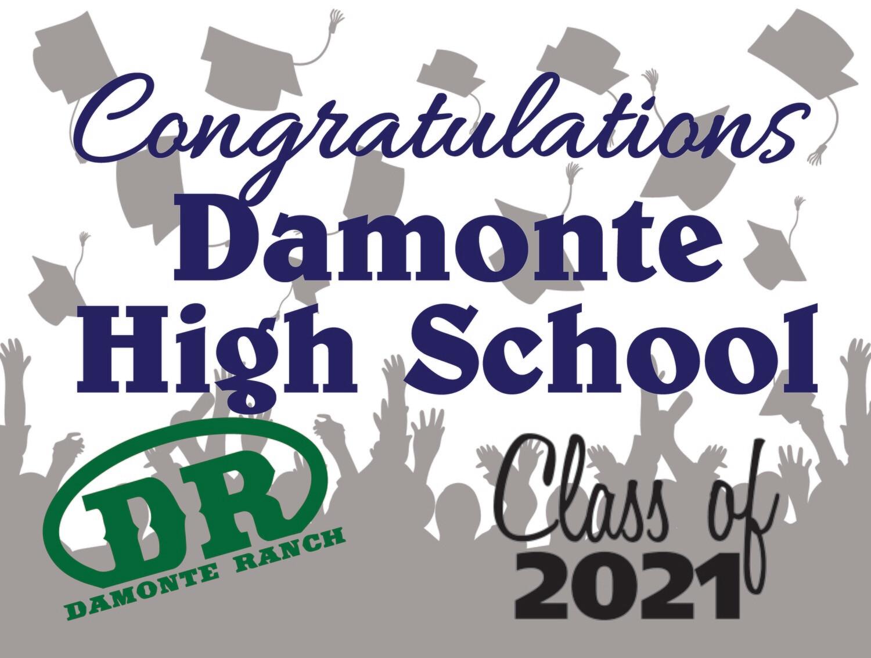 Class of 2021 Damonte Ranch Senior Graduate Yard Sign - Ready in 10-14 Days
