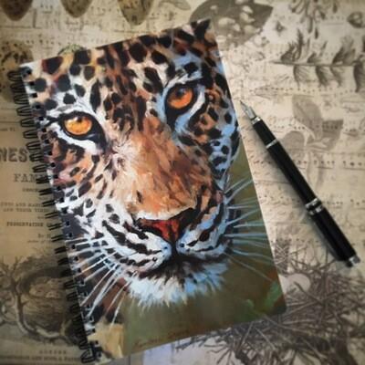 Leopard Gaze Notebook
