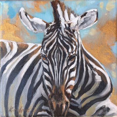 Golden Creatures: Zebra Snooze