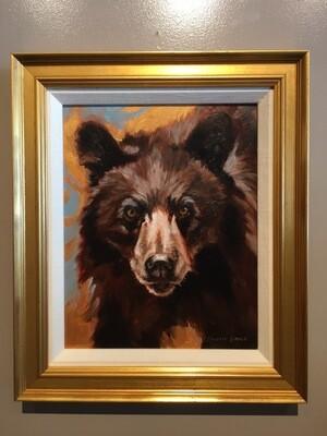 (SOLD)Golden Creatures: Young Cinnamon Black Bear