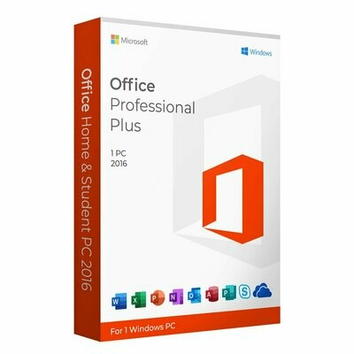 MICROSOFT®OFFICE 2016 PROFESSIONAL PLUS For Windows And Mac