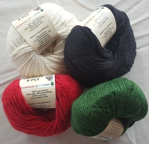 8ply SURI SILK superb rare baby suri (alpaca), lustrous fine finnsheep, silk blend  - ivory, ebony, deep coral red, emerald green in 50g balls. Normally AU$12.55 each