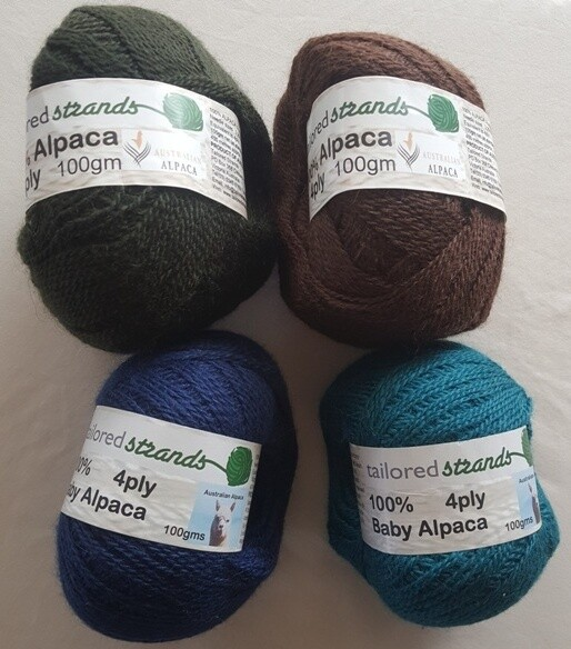 SUPER SPECIAL AUGUST 100grams only $14.50 each. 4ply 100gram  normally AU$23.90/100g each - olive, mocha, royal blue, teal.