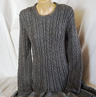 Mid grey Cable Ladies Jumper End of Winter Special, normally $350.00