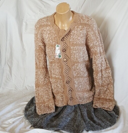 Ladies Jacket - Honeycomb, lace collar button up round neck, End of Winter Special, normally $400.00