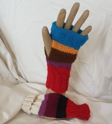 Australian Alpaca Mittens, fingerless open end.  Aussie designer knits. Normally priced at AU$29.95